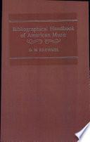Bibliographical Handbook of American Music