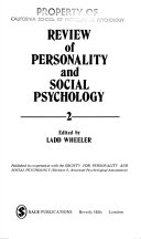 Review of Personality and Social Psychology