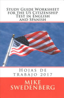Study Guide Worksheet for the US Citizenship Test in English and Spanish