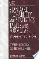 CRC Standard Probability and Statistics Tables and Formulae  Student Edition