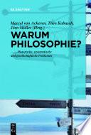 Warum noch Philosophie?