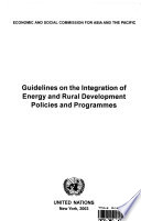 Guidelines On The Integration Of Energy And Rural Development Policies And Programmes book