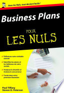 Business Plans Pour Les Nuls par Paul TIFFANY