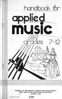Handbook for Applied Music, Grades 7-12