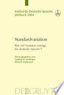 Standardvariation