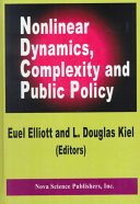 Nonlinear Dynamics  Complexity and Public Policy