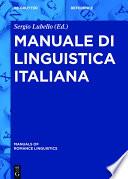 Manuale di linguistica italiana