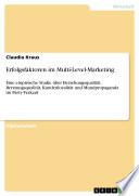 Erfolgsfaktoren im Multi-Level-Marketing