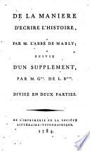 De la Mani  re d   crire l histoire    suivie d un suppl  ment  par M  G    de L  B      Paul Phil  Gudin de La Brenellerie