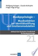 Musikselektion zur Identit  tsstiftung und Emotionsmodulation