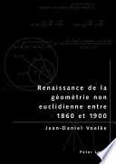 illustration Renaissance de la géométrie non euclidienne entre 1860 et 1900