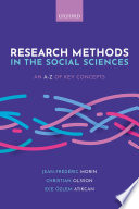 Research Methods In The Social Sciences An A Z Of Key Concepts