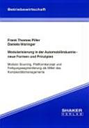 Modularisierung in der Automobilindustrie