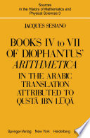 Books IV to VII of Diophantus    Arithmetica