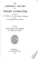 The Cambridge History of English Literature  From Steele and Addison to Pope and Swift Book PDF