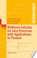 Malliavin Calculus for L  vy Processes with Applications to Finance