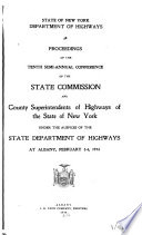 Proceedings of the Annual Conference of the State Commission and the County Superintendents of Highways