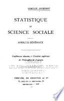 Statistique et science sociale