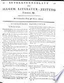 Intelligenzblatt der Allgemeinen Literatur-Zeitung vom Jahre 1799