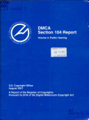 DMCA Section 104 Report: Public Hearing : ...
