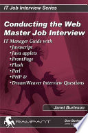 Conducting the Webmaster Job Interview