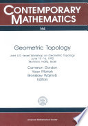 Geometric Topology