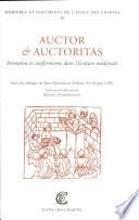 Auctor & auctoritas