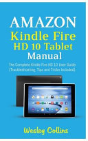 Amazon Kindle Fire Hd 10 Tablet Manual