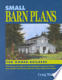 Small Barn Plans for Owner Builders