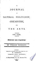 A Journal of Natural Philosophy  Chemistry and the Arts