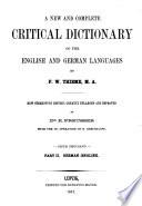 Neues vollständiges kritisches Wörterbuch der Englischer und Deutschen Sprache von F. W. Thieme