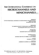 Proceedings of the 1st International Conference on Microchannels and Minichannels