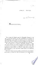 Begin  A Paris  le F  vrier 1791  Messieurs  Nous avons   t   d  put  s  etc   A circular letter from the Deputies of the Provincial Assembly  insisting on the necessity of leaving to the Colony the right of regulating its internal government