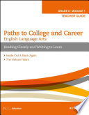English Language Arts  Grade 8 Module 1