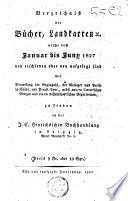 Verzeichniss der Bücher, Landkarten, ... zu finden bei J. C. Hinrichs ...
