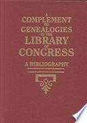 A Complement to Genealogies in the Library of Congress