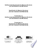 Building Code Requirements for Masonry Structures  ACI 530 05 ASCE 5 05 TMS 402 05