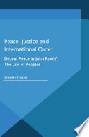 Peace  Justice and International Order