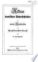 Album deutscher Schriftsteller zur vierten Säcularfeier der Buchdruckerkunst