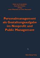 Personalmanagement als Gestaltungsaufgabe im Nonprofit und Public Management