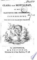 Clara Van Montalban Of Het Slagtoffer Der Ouderliefde