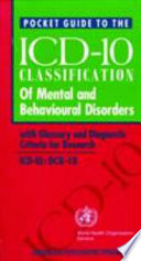 Pocket Guide to the ICD 10 Classification of Mental and Behavioural Disorders