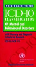 Pocket Guide to the ICD-10 Classification of Mental and Behavioural Disorders