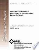 Safety and Performance Assessment of Ethanol Diesel Blends (E-Diesel)