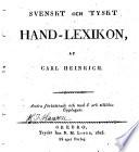 Svenskt och tyskt hand lexikon