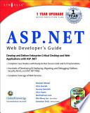 ASP.Net Web Developer's Guide