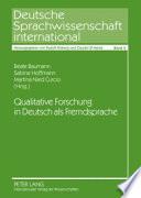 Qualitative Forschung in Deutsch als Fremdsprache