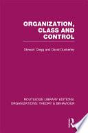 Organization  Class and Control  RLE  Organizations
