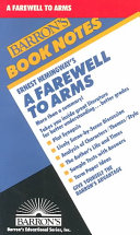 Ernest Hemingway s A Farewell to Arms Book PDF