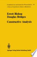Constructive Analysis